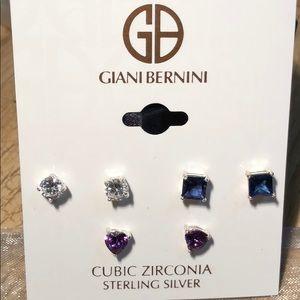 Beautiful Set of 3 CZ Earrings